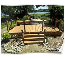 Beautiful Deck and Waterfall - k6055 Poster