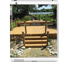 Beautiful Deck and Waterfall - k6055 iPad Case/Skin