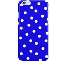 Polka Dot Blue and White Cushion & Bed Cover iPhone Case/Skin