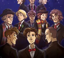 50 Years of Doctor Who by kynimdraws