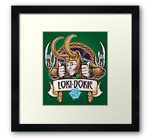 Loki-Dokie Framed Print