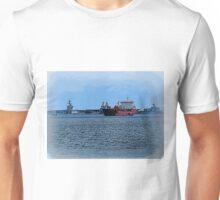 Freighter Coming Through - 6063a Unisex T-Shirt