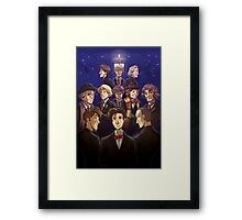 "Doctor Who Medley (""50 Years of Doctor Who"" without Captions) Framed Print"