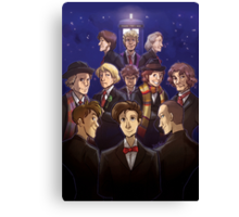 """Doctor Who Medley (""""50 Years of Doctor Who"""" without Captions) Canvas Print"""
