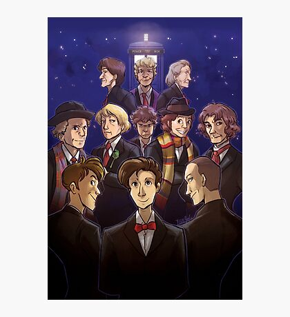 "Doctor Who Medley (""50 Years of Doctor Who"" without Captions) Photographic Print"