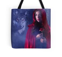 Red and the Wolf Tote Bag