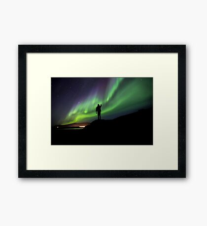 The darkest night produce the highest stars Framed Print