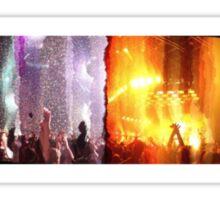 Concert double exposure Sticker