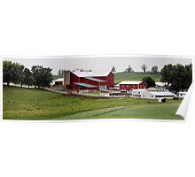 Amish Farm in Rural Ohio Poster