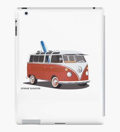 23 Window Split VW Bus Red with Surfboard Peace iPad Case/Skin