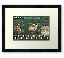 ALCATRAZ Framed Print