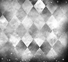Silver Grunge Harlequin by Kim Liddiard