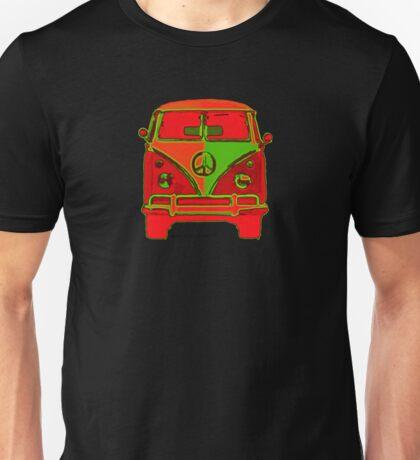 Splitty VW Bus Van Front Psychodelic Glow Unisex T-Shirt