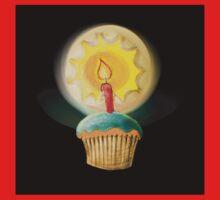 Happy Birthday Cupcake One Piece - Short Sleeve