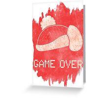 Game Over King DeDeDe Greeting Card