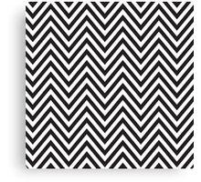 MODERN CHEVRON PATTERN bold monochrome black + white Canvas Print