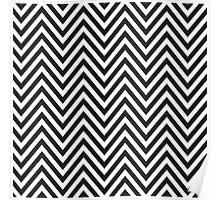 MODERN CHEVRON PATTERN bold monochrome black + white Poster