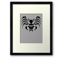 Rorschach Symbiote Framed Print