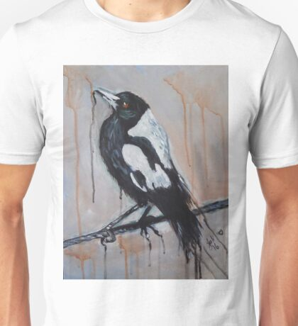 Magpie on a Wire Unisex T-Shirt