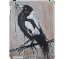 Magpie on a Wire iPad Case/Skin