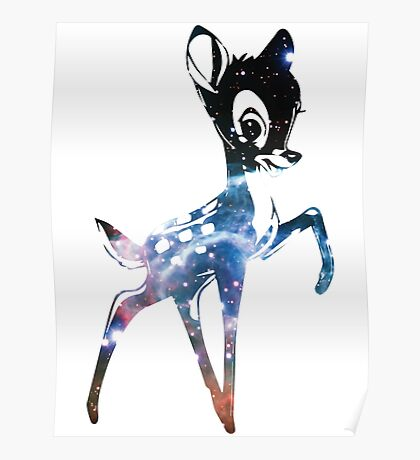Space Bambi   Thor's Helmet Nebula Poster