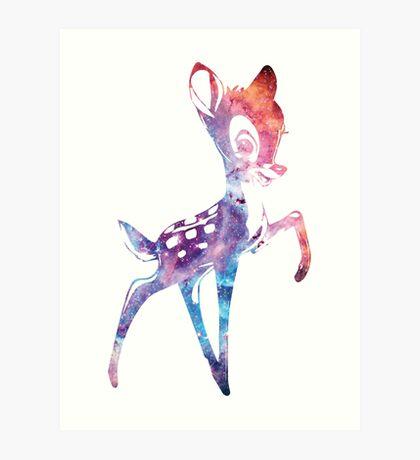 Space Bambi | Rosette Nebula Art Print