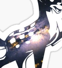 Space Bambi | Barred Spiral Galaxy Sticker