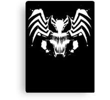 Rorschach Symbiote black Canvas Print