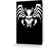 Rorschach Symbiote black Greeting Card