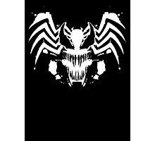 Rorschach Symbiote black Photographic Print