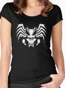 Rorschach Symbiote black Women's Fitted Scoop T-Shirt