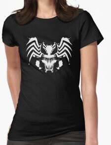 Rorschach Symbiote black Womens Fitted T-Shirt
