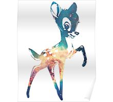 Space Bambi   Carina's Head Nebula Poster