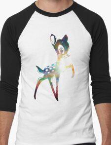 Space Bambi   Heart of Omega Nebula Men's Baseball ¾ T-Shirt