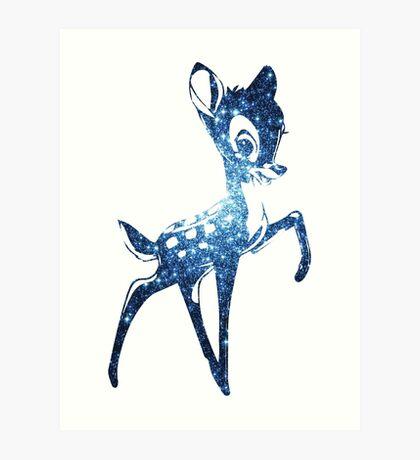 Space Bambi | Blue Cluster Galaxy Art Print