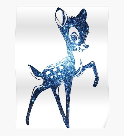 Space Bambi   Blue Cluster Galaxy Poster