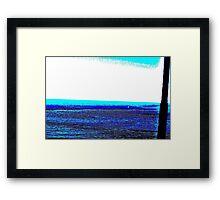 Landscape blue white ing Framed Print