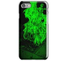 Green Fire Pit iPhone Case/Skin