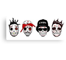 RIP MCs - Gangsta Rapper Sugar Skulls Canvas Print