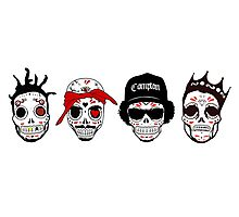 RIP MCs - Gangsta Rapper Sugar Skulls Photographic Print