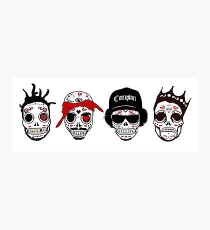 RIP MCs - Gangsta Rapper Sugar Skulls Photographic Print