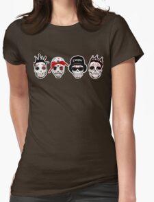RIP MCs - Gangsta Rapper Sugar Skulls Womens Fitted T-Shirt