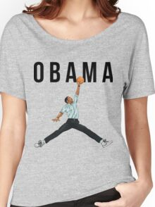 Obama Basketball Mashup Women's Relaxed Fit T-Shirt