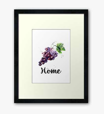 Grapes. Home Framed Print