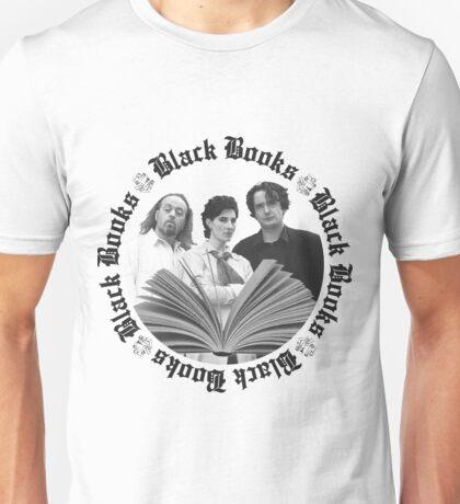 BLACK BOOKS - Manny, Fran & Bernard Unisex T-Shirt