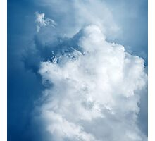 Blue Sky with Stormy Cumulus Clouds Photographic Print