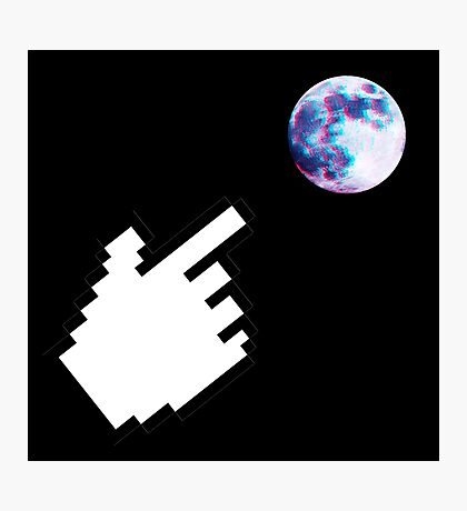Finger pointing at the Moon Photographic Print