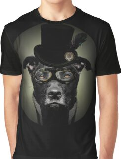 4.	Dapper Eduardian Pit Bull in Steampunk Gear Graphic T-Shirt