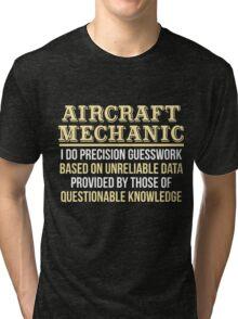 Aircraft Mechanic Definition Funny Gift T-Shirt Tri-blend T-Shirt