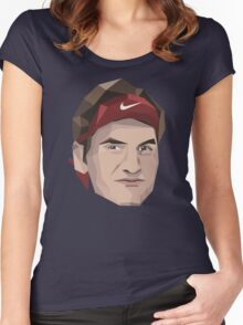 Roger Federer Women's Fitted Scoop T-Shirt